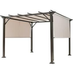 10' X 10' Pergola Kit Metal Frame Gazebo &Canopy Cover Patio