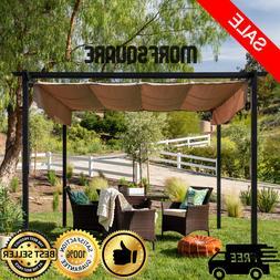 10' x 10' Pergola Kit Metal Frame Gazebo & Canopy Cover Pati