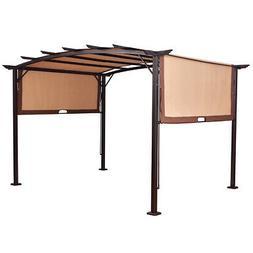 12ft. x 9ft. Pergola Kit Gazebo & Removable Canopy Cover Pat