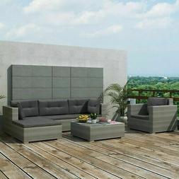 17 PCS Patio Furniture Sectional Sofa Set Rattan Wicker Cush