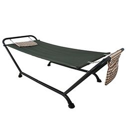 HomGarden 2 Person Heavy Duty Pillow Hammock with Stand Supp