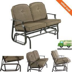 2 Person Outdoor Glider Bench Patio Garden Comfortable Loves