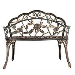 "38.5"" Bronze Style Patio Furniture Porch Garden Cast Aluminu"