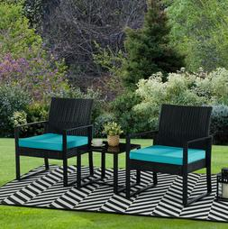 3pc Wicker Rattan Patio Outdoor Furniture Conversation Sofa