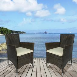 4 PC Rattan Patio Furniture Set Wicker Conversation Set Gard