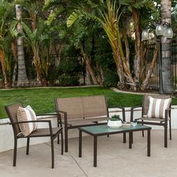 Best Choice Products 4-Piece Outdoor Patio Metal Conversatio