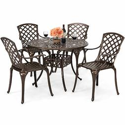 Best Choice Products 42 5-Piece Cast Aluminum Patio Outdoor