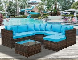 5 PCS Patio Furniture Set Outdoor Sectional Conversation Set