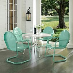5 Piece Dining Set 1-Table 4-Chairs Steel Outdoor Patio Furn