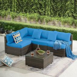 5 pieces patio yard furniture set outdoor