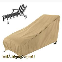 Classic Accessories Terrazzo Outdoor Chaise Lounge Cover, Me