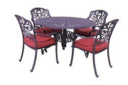 5pc Outdoor Patio Furniture Set Antique Bronze Cast Aluminum