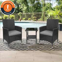 7 PCS Outdoor Patio Dining Set Metal Rattan Wicker Furniture
