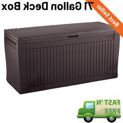 71 Gallon Outdoor Storage Bench Patio Box Garden Deck Yard P