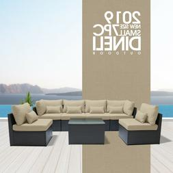 7PC Outdoor Patio Furniture Rattan Wicker Sectional Sofa Cha