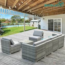 YITAHOME 7pcs Outdoor Patio Sofa Set PE Rattan Wicker Sectio