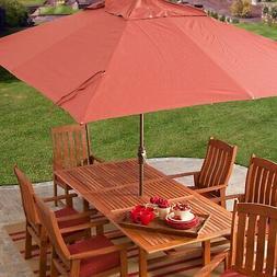 8 x 11-Ft Rectangle Patio Umbrella with Red Orange Terracott
