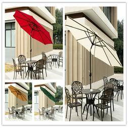 9FT Garden Umbrella Patio Outdoor Sun Shade Furniture Lawn N