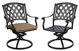 Darlee 201630-3-2 Cast Aluminum Swivel Rocker Dining Chair S