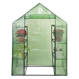 Goplus 8 Shelves Greenhouse Portable Mini Walk in Outdoor Gr