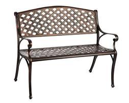 Patio Sense - Aluminum Patio Bench - Bronze