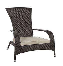 Patio Sense - Coconino Wicker Chair - Mocha/beige