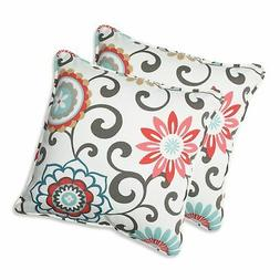 Pillow Perfect Outdoor Pom Pom Play Peachtini Throw Pillow,