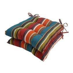 Pillow Perfect Outdoor Westport Tufted Seat Cushion, Teal, S