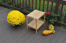 A&L Furniture Co. Amish-Made Bent Oak Patio End Tables