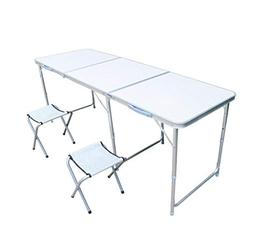 LQY Aluminum Folding Camping Table Portable Indoor Outdoor F