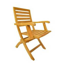 Anderson Teak Andrew Folding Patio Dining Chair in Natural