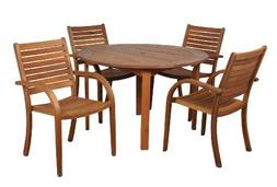 Amazonia Arizona 5 Piece Round Outdoor Dining Set |Super Qua