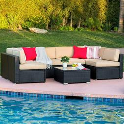 Best Choice Products 7-Piece Modular Outdoor Patio Furniture