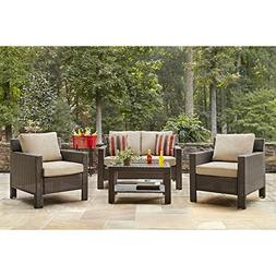 Beverly 4-Piece Patio Deep Seating Set with Beige Cushions