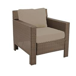 Beverly Patio Deep Seating Lounge Chair with Beverly Beige C