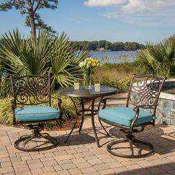 Bistro Set Dinning Round Table Patio Chair w/ Cushion Outdoo