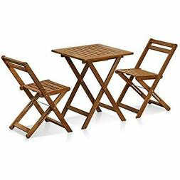 Furinno Bistro Sets FG3611298 Tioman Hardwood Patio Furnitur