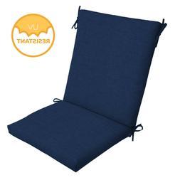 Outdoor Deep Seat Chair Patio Cushions Set Blue Pad UV Resis