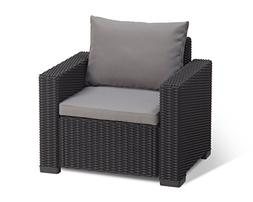 Keter California All Weather Outdoor Patio Armchair with Cus