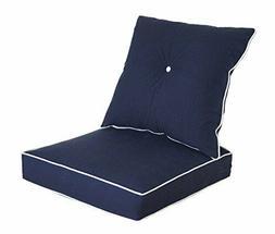 Bossima Outdoor Chair Cushion Patio Deep Seat High Back Pad