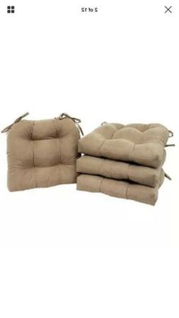 Chair Cushion Seat Set of 4 Pad Patio Outdoor Garden Dining
