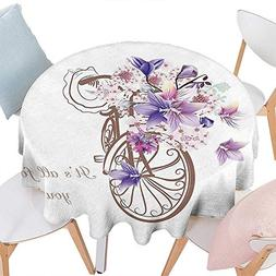 Cheery-Home Round Polyester Tablecloth Suitable All Occasion