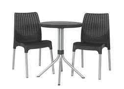 Keter Chelsea 3-Piece Resin Outdoor Patio Furniture Dining B