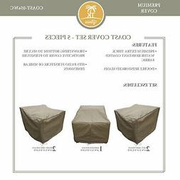TK Classics Coast Protective 5 Piece Water Resistant Patio F