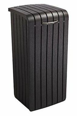Keter Copenhagen 30-Gallon Wood Style Plastic Trash Bin Can,