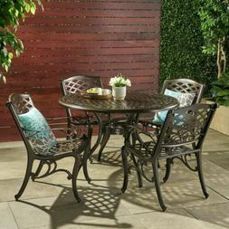 Great Deal Furniture Covington | 5 Piece Cast Aluminum Outdo