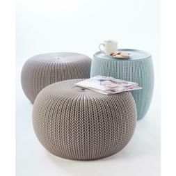 3piece Cozy Urban Knit Furniture Set Compact Indoor/Outdoor