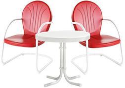 Crosley Furniture Griffith 3-Piece Metal Outdoor Conversatio