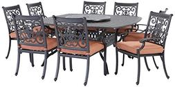 Darlee St. Cruz Cast Aluminum 10-Piece Dining Set with Seat