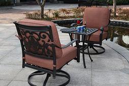 Darlee St. Cruz 3-Piece Club Rocker Chair Set with Seat, Bac